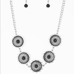 Cute Silver Flowers Necklace and Earrings Set